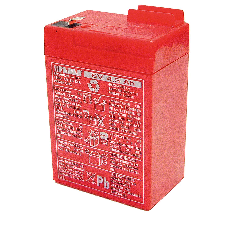 FEBER - Recambio de Batería para Coches y motos de batería para niños, 6V, 4,5Ah (Famosa 800003104)