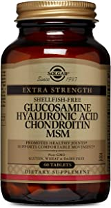 Solgar – Glucosamine Hyaluronic Acid Condroitin MSM (Shellfish-Free) 60 Tablets