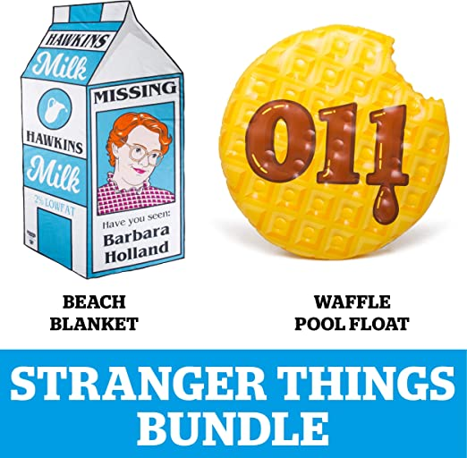 Machine Washable BigMouth Inc Makes a Great Gift 6 Foot Oversized Beach Towel Blanket with Stranger Things Theme Barb/'s Missing Milk Carton Beach Blanket Ultra-Soft