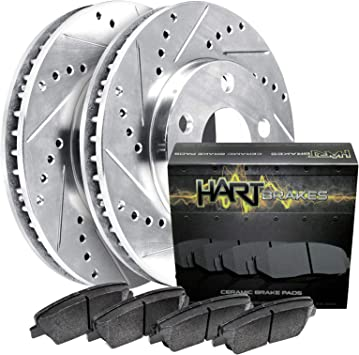 F+R Rotors /& Pads for 2008-2013 Infiniti G37 Convertible Coupe W//O Sport Package