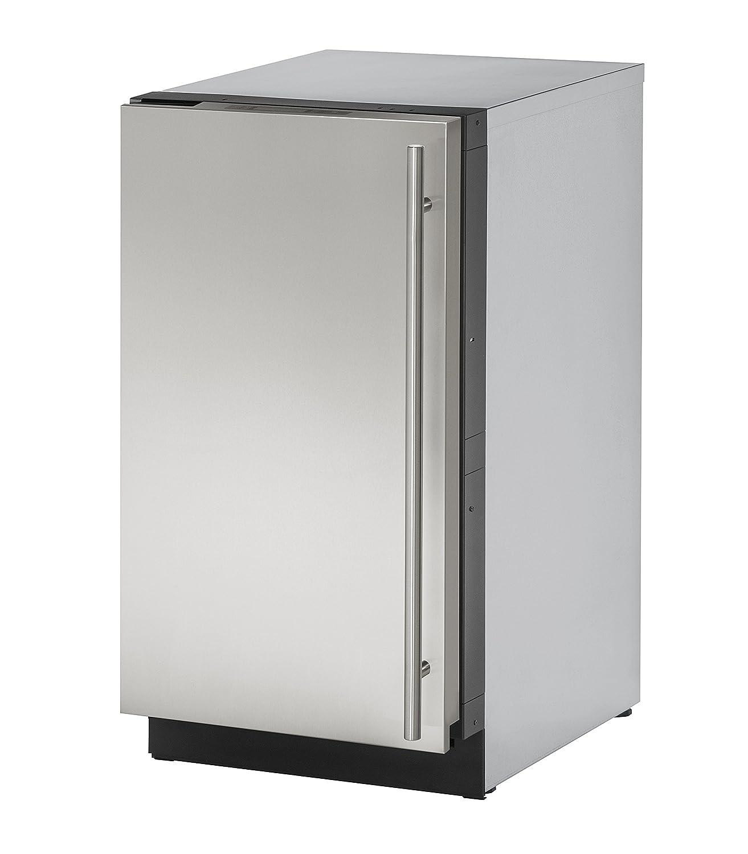 U-Line U-3018RS-01A 18 Inch Under Counter Refrigerator, Stainless Steel, Left Hand Hinge (Certified Refurbished)