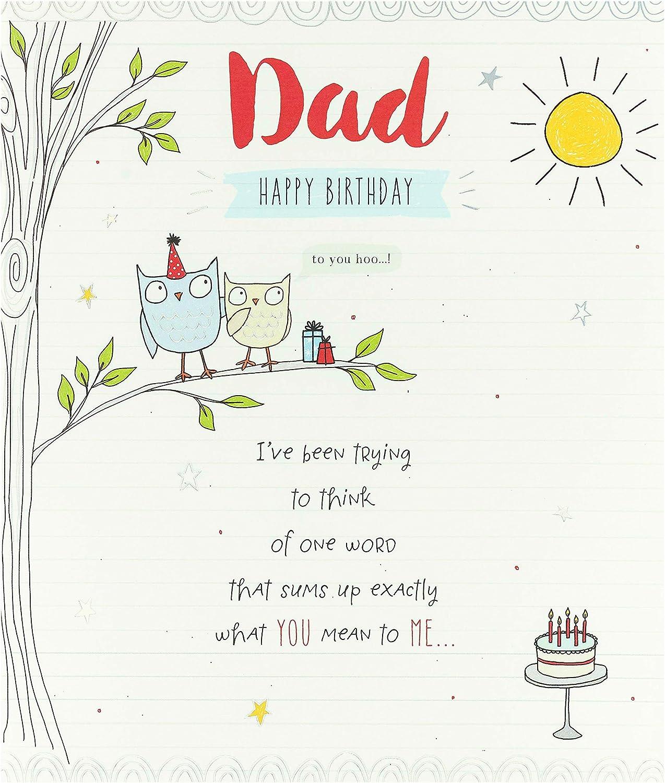 Dad Birthday Card - Birthday Card for Him - Sweet Owl Design
