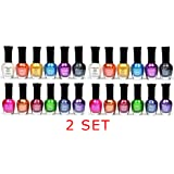 Kleancolor Nail Polish - Awesome Metallic Full Size Lacquer 2 Pack of 12-pc Set
