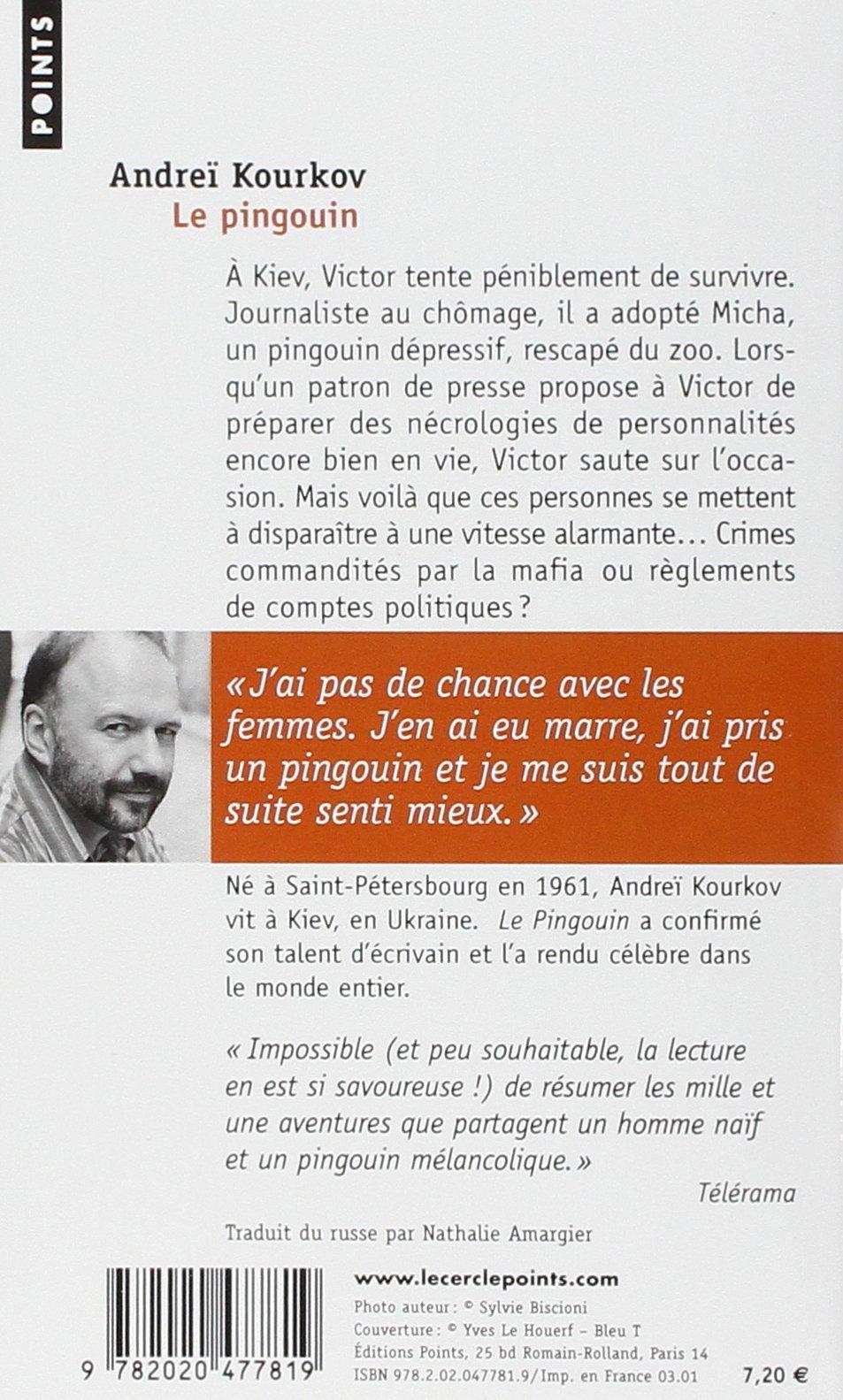 Le Pingouin Andrei Kourkov  AmazonCom Books