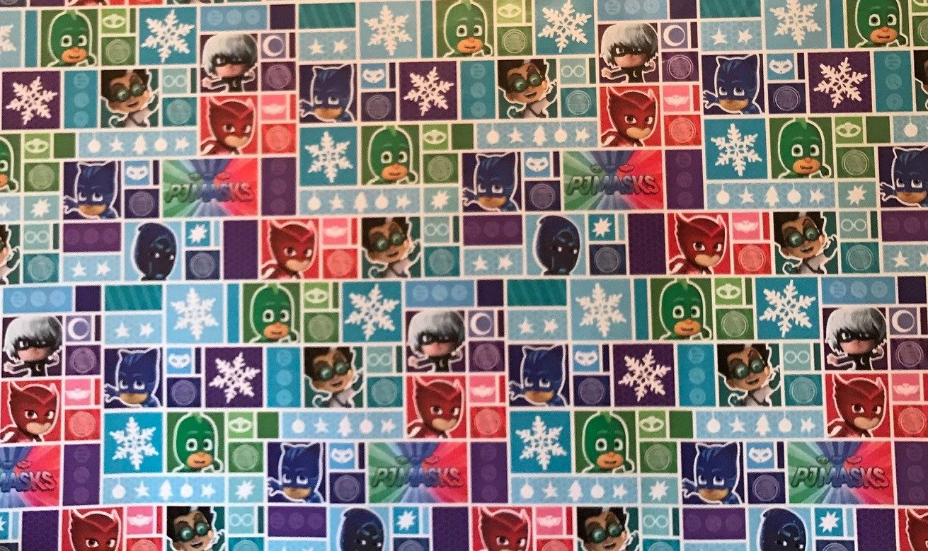 Amazon.com: Pj Masks Heavyweight Christmas Gift Wrapping Paper, 1 Roll: Health & Personal Care