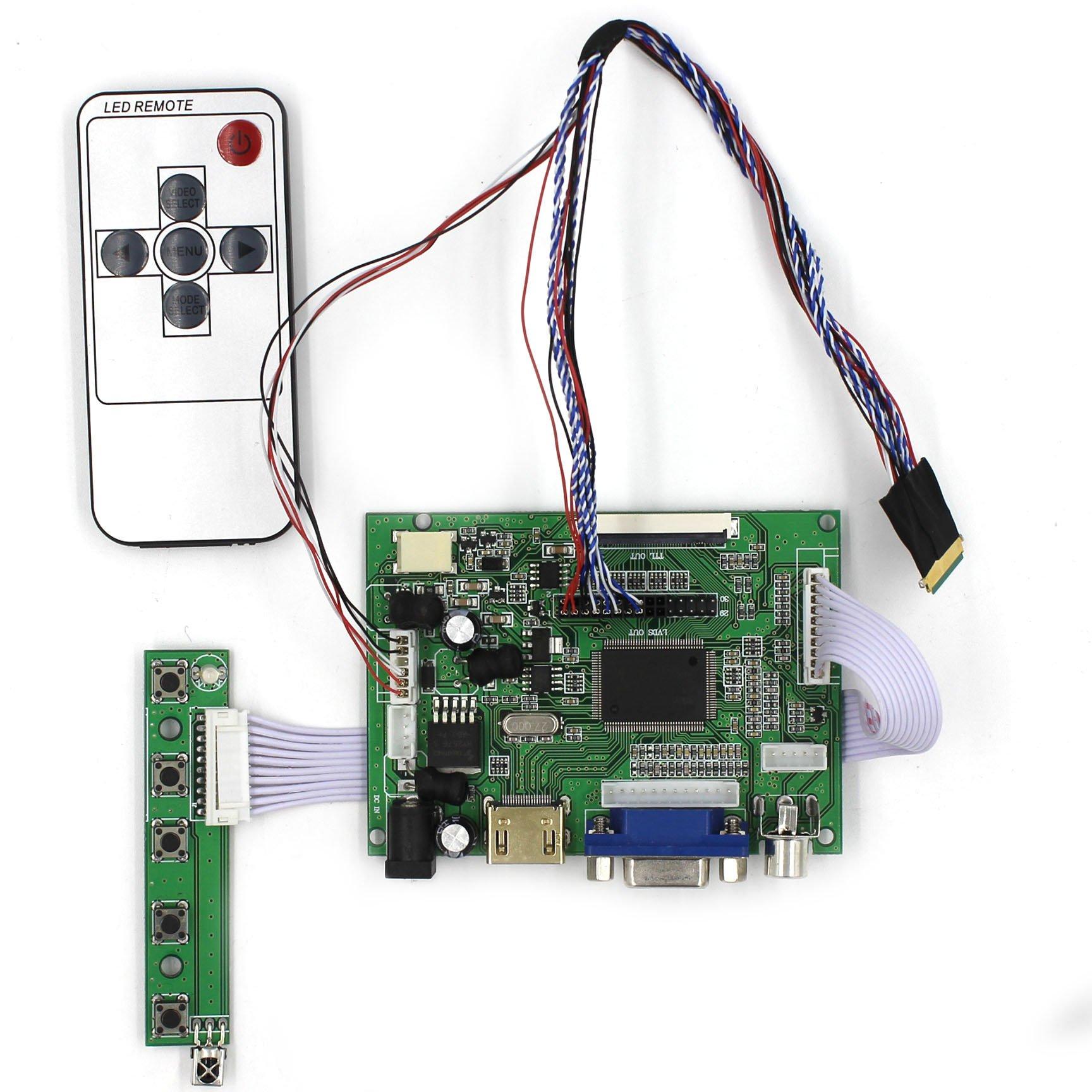 HDMI+VGA+2AV Input LCD Controller Board For B101AW03 CLAA101WB03 10.1'' 1024x600 40Pins LCD Panel