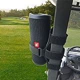 HomeMount Golf Cart Speaker Mount, Adjustable Strap Holder Fits Most Portable Sound Bar, Golf Cart Accessories…