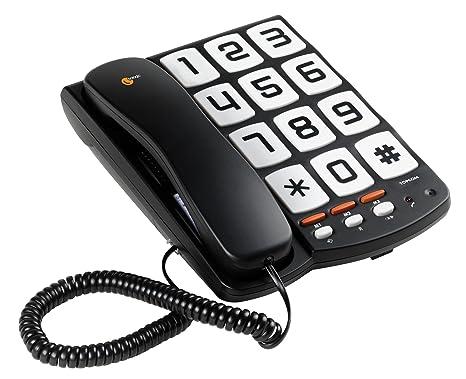 topcom sologic t101  Topcom TS-6650 Sologic T101 Telefono con Grandi Tasti, Nero: Amazon ...