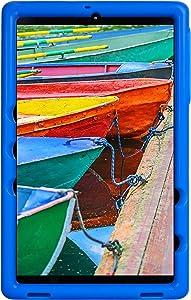 BobjGear Bobj Rugged Tablet Case for Samsung Galaxy Tab A 10.1 (2019) SM-T510, SM-T515 Kid Friendly (Batfish Blue)