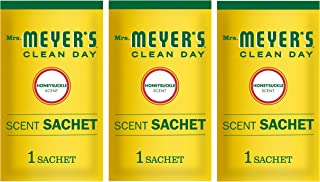 product image for Mrs. Meyer's Clean Day Air Freshening Scent Sachets, Fragrance for Lockers, Cars, and Closets, Honeysuckle Scent, 3 ct