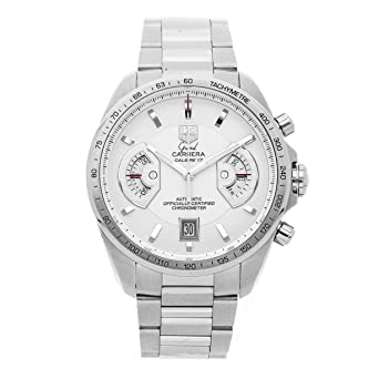 899f0f52e20 Amazon.com: Tag Heuer Carrera Mechanical (Automatic) Silver Dial ...