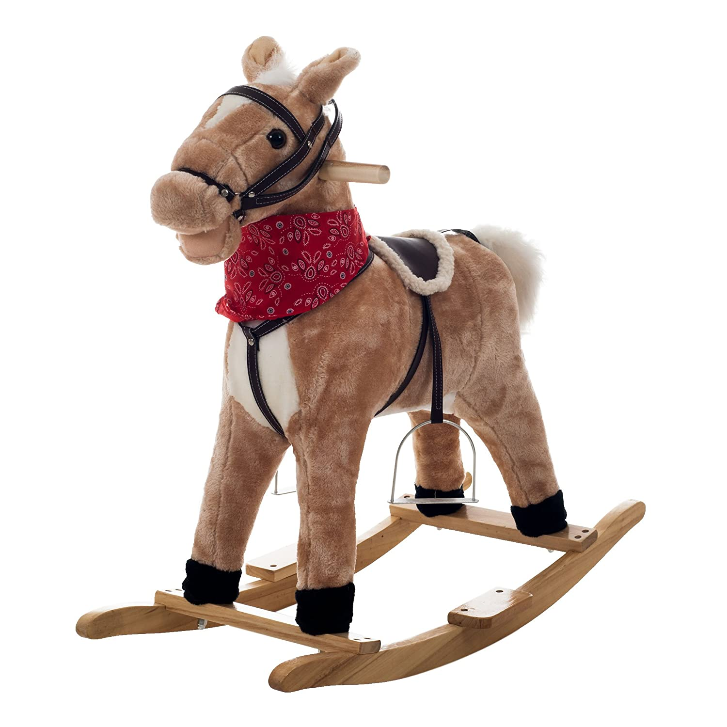 amazoncom happy trails dusty the rocking horse ride on toys  games -