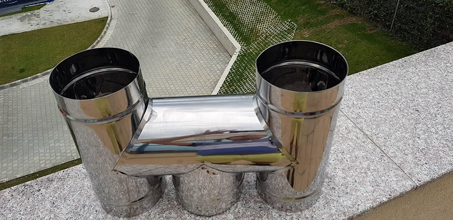 100 mm CHIMNEY H Shaped COWL Stainless Steel Cap fit 100 to 300mm
