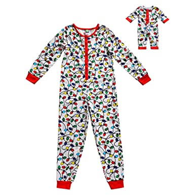 Amazon.com  Dollie   Me Girls  Apparel Snug Fit Knit Onesie Sleepwear and  Matching Doll Outfit in  Clothing 66a8dc8a3