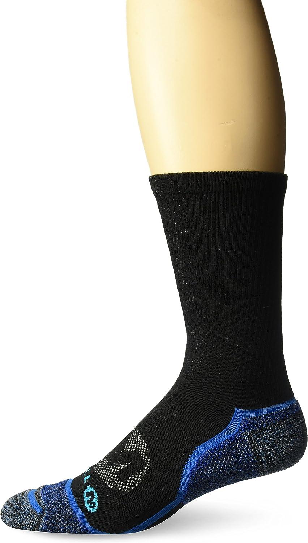 Merrell mens 1 Pack Cushioned Trail Glove Runner Socks (Low/Quarter/Crew Cut)