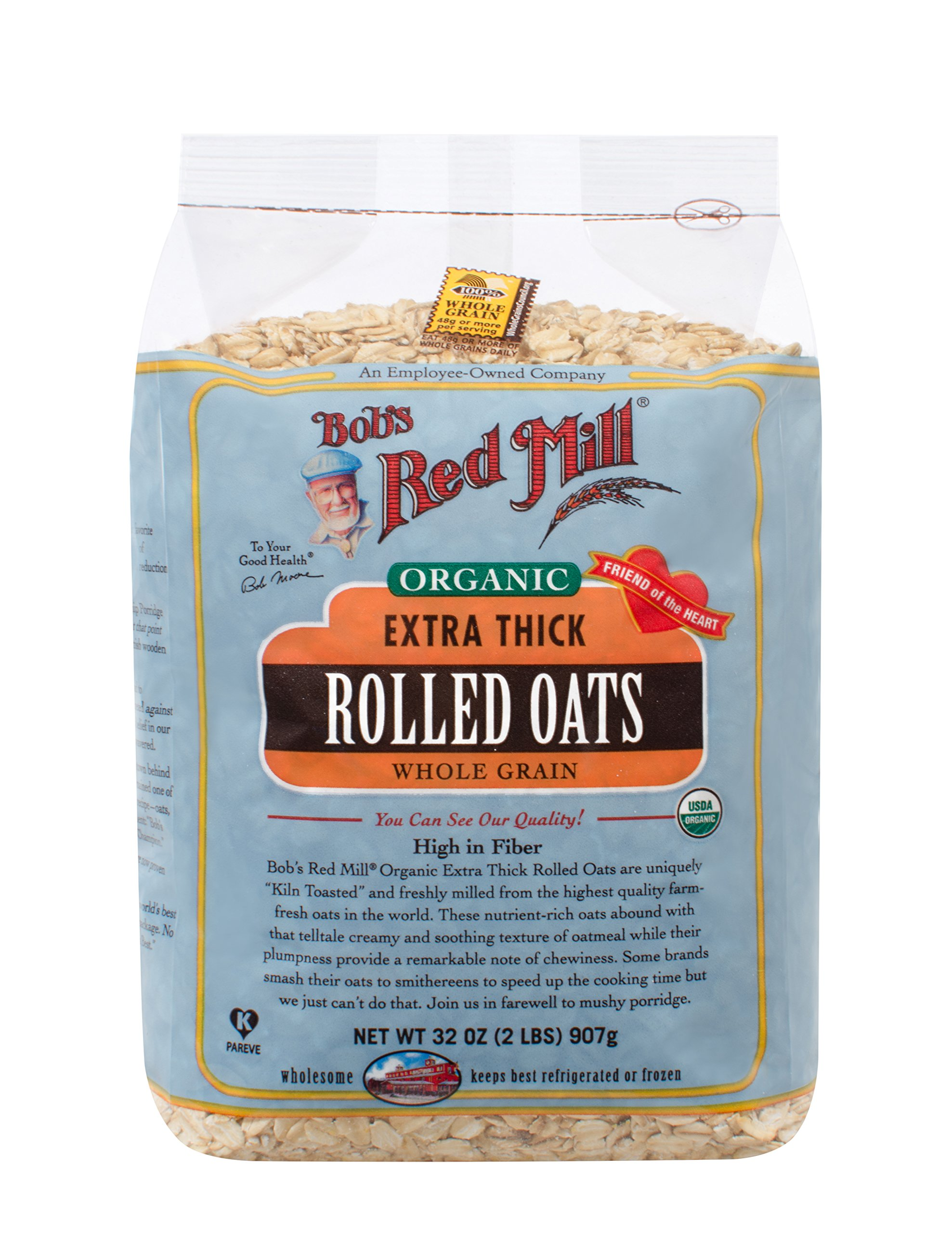 Bob's Red Mill - Organic Oats Rolled Thick, 32 Ounces by Bob's Red Mill (Image #1)