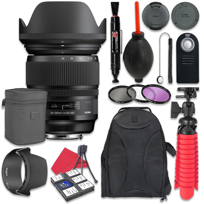 Sigma 24 – 105 mm f / 4 Dg OS HSM Artレンズfor Nikon +アクセサリーバンドル   B072J8WZRL