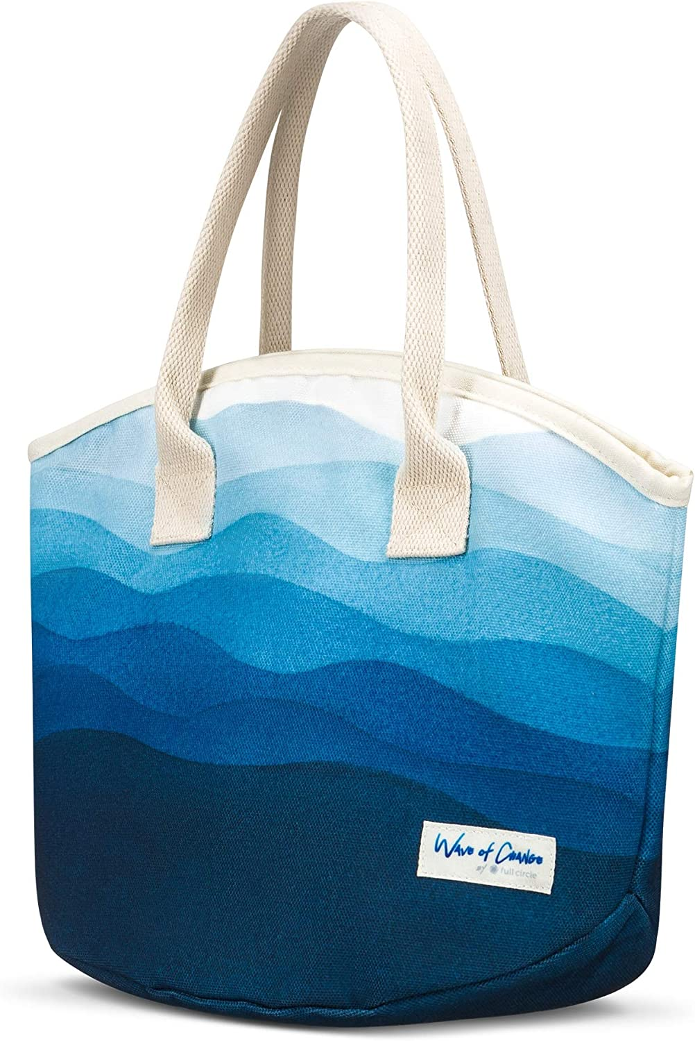 Waves of Change Insulated Recycled Plastic, Medium Lunch Bag-8 Can Capacity