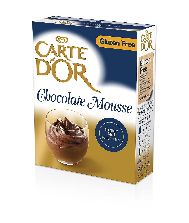 Carte dOr Mousse Chocolate - Sin Gluten - 3 sobres x 240g - 45 raciones: Amazon.es: Alimentación y bebidas