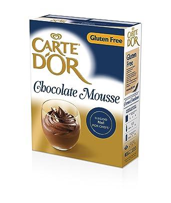 Carte dOr Mousse Chocolate - Sin Gluten - 3 sobres x 240g - 45 raciones