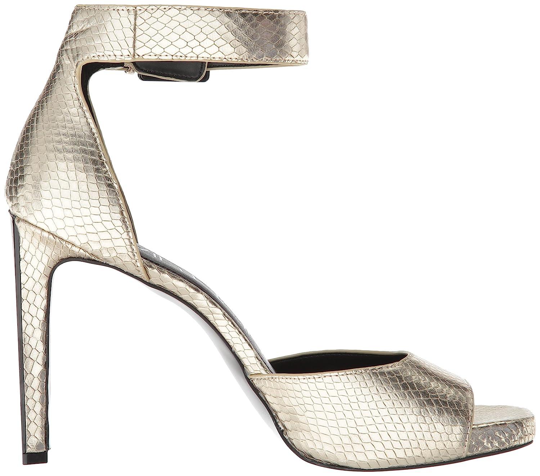Calvin Klein US|Soft Women's Marinda Pump B07BSVGQTC 5.5 B(M) US|Soft Klein Gold Shiny Snake 580993
