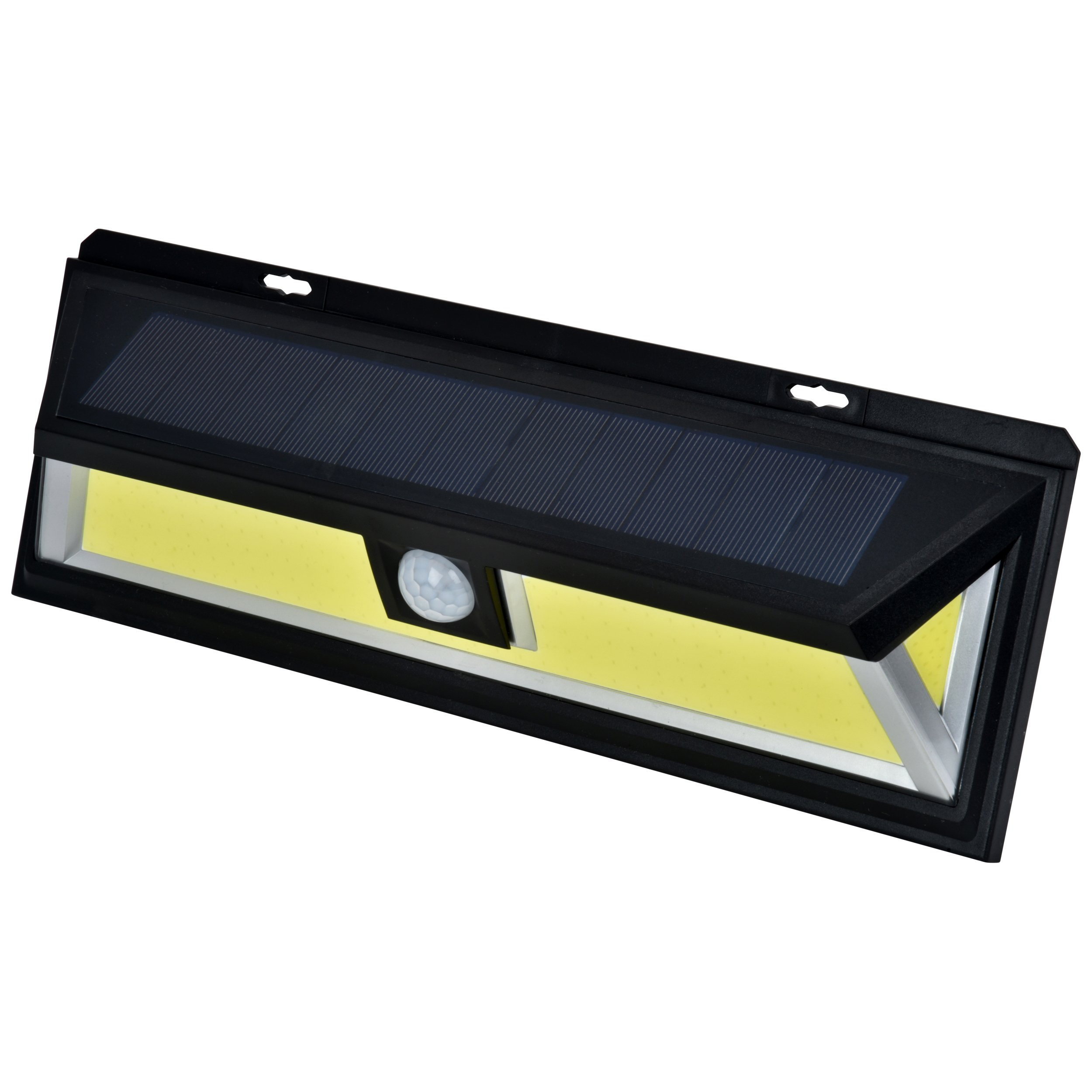 SOLAR MOTION SENSOR COB LED LIGHT By Mighty Power, Ultra Bright 700 Lumens, Perfect For Illuminating Patios, Outdoor Walkways and Pathways, Entries And Exits, Dark Alleys, RVs, Garages, Black (1 Pack)