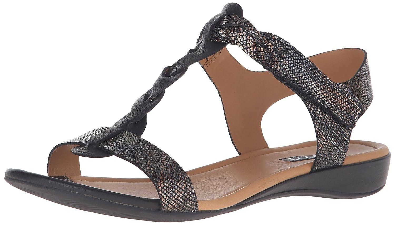 ECCO Footwear Womens Women's Bouillon Knot Sandal Ii Wedge Sandal B015YZUTCY 40 EU/9-9.5 M US Black/Black/Multi Metallic
