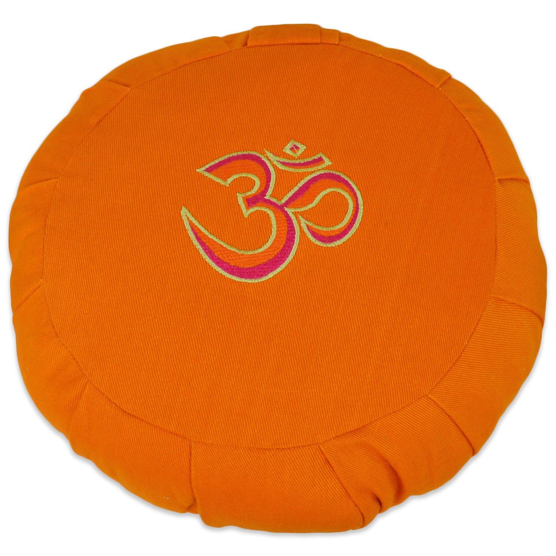 YogaAccessoriesラウンドコットンZafu瞑想クッション枕 B0081ULA3C 3 Color Ohm Burnt Yellow 3 Color Ohm Burnt Yellow
