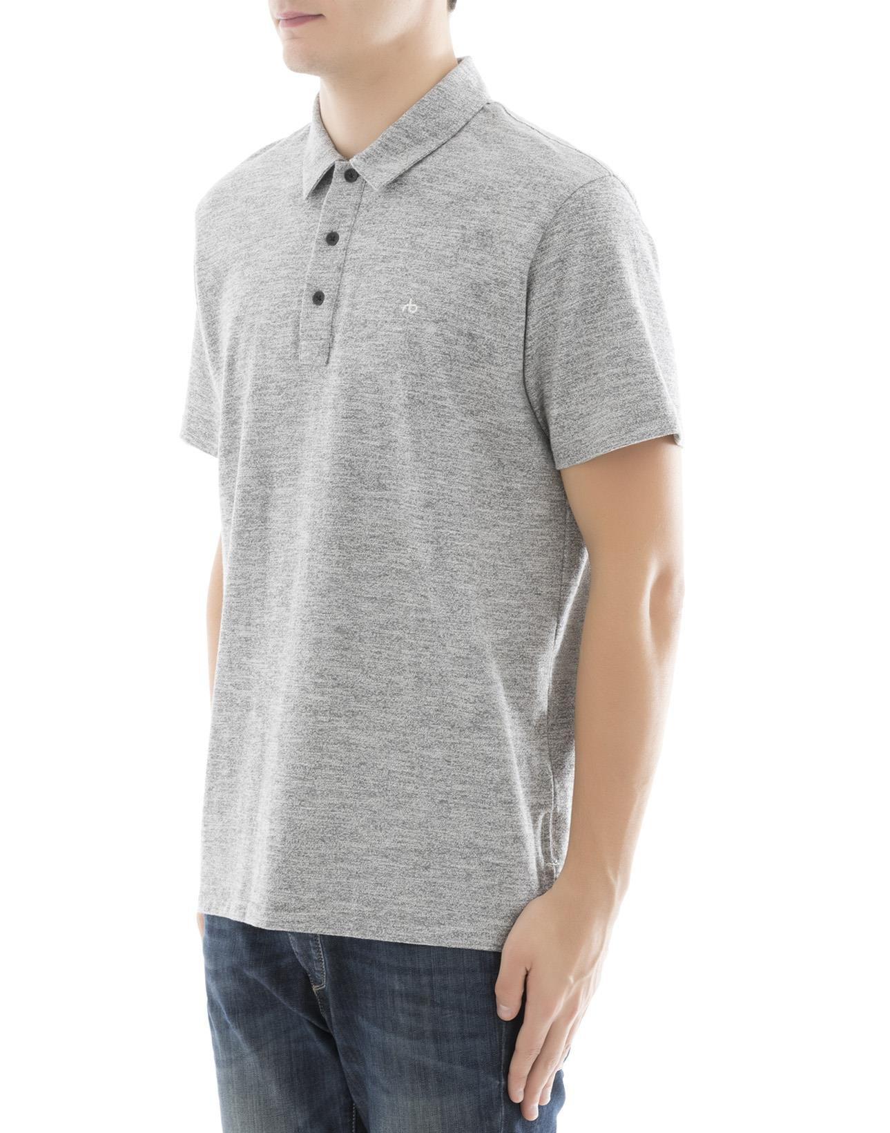 rag & bone Men's M000t076c030 Grey Cotton Polo Shirt by rag & bone (Image #2)