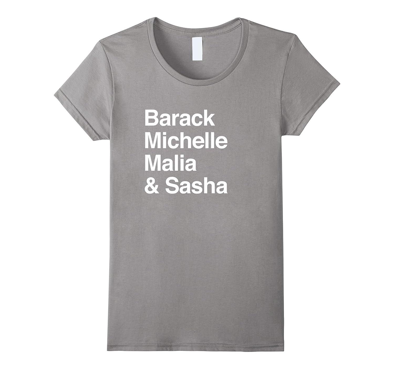 OBAMA Barack Michelle Malia Sasha Democratic President Shirt