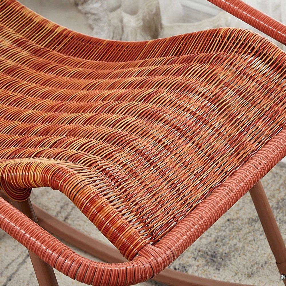Amazon.com: GLJ Rocking Chair Cane Chair Adult Siesta Lounge Living ...