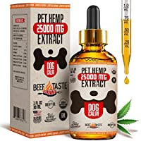 Billy Balance - Oil for Dogs – 25 000 MG – Stress Relief, Anxiety, Pains, Joint Pain, Seizures, Arthritis, Better Sleep…