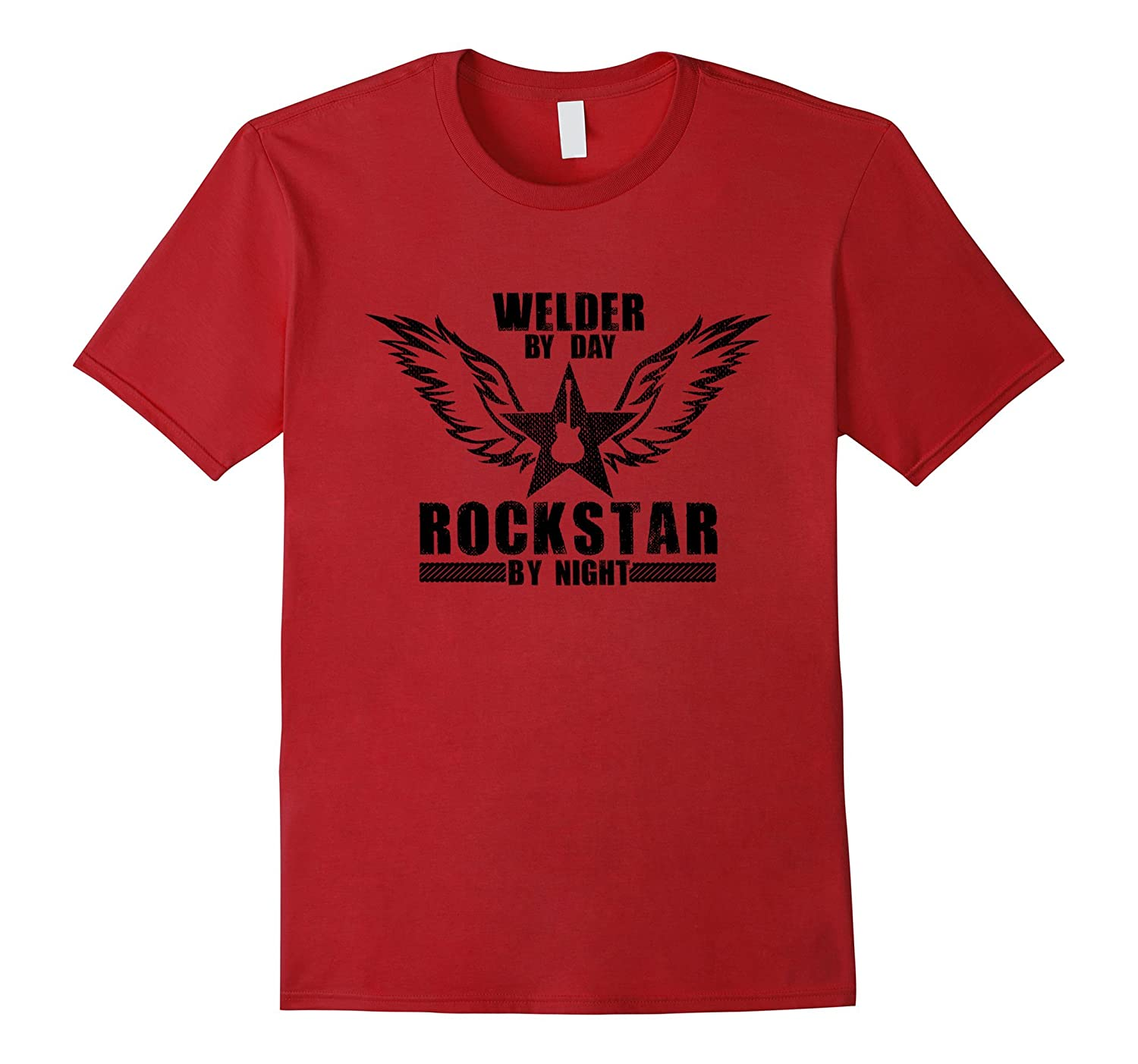 Welder by Day  Rockstar by Night T-Shirt Black-TD