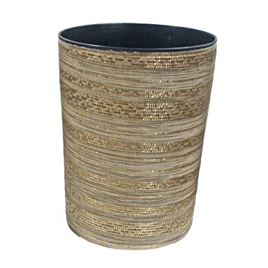 Dial Industries Bathroom Waste Bin - 12  x 9  Trash Can Wastebasket for Office, Bathroom or Bedroom with Textured Finish