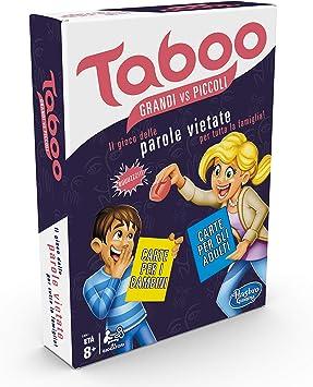 Hasbro Gaming Taboo Piccoli vs Grandi - Juego de Mesa (en Caja) único 3 Multicolor: Amazon.es: Juguetes y juegos
