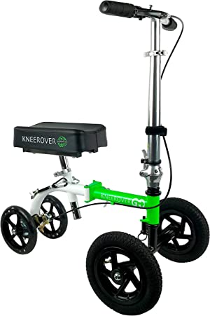 KneeRover GO HYBRID - Most Compact Knee Scooter with All Terrain Front Wheels