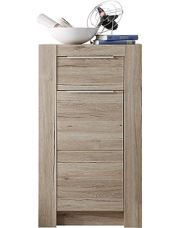 trendteam Salón Cómoda Armario Cougar, 58 x 104 x 40 cm en acabado roble claro