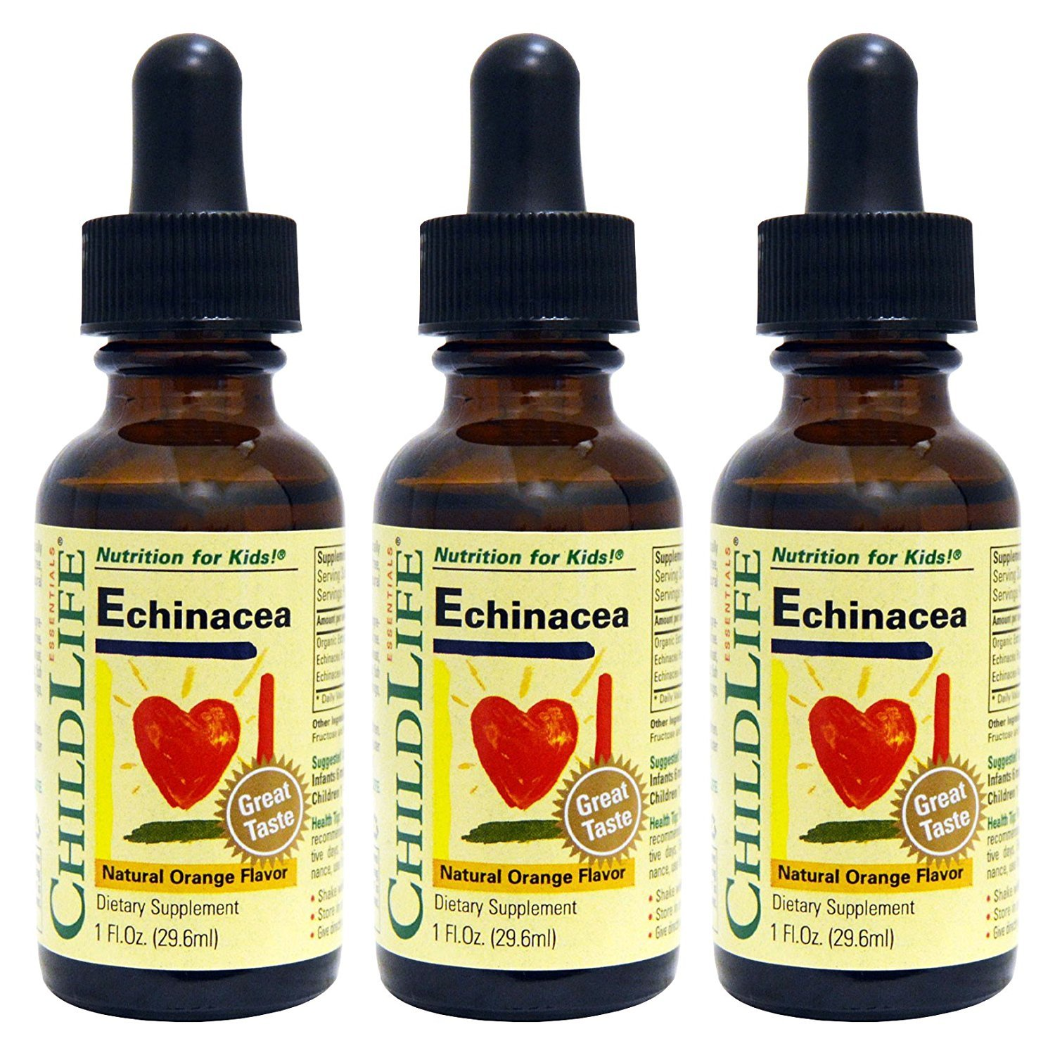 Child Life Echinacea, Glass Bottle, 1-Ounce (3 Pack)