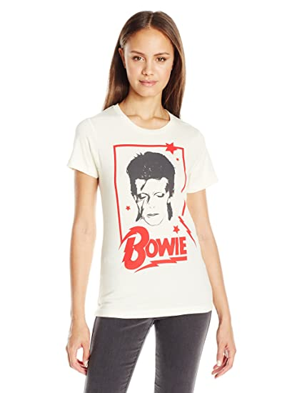 e16122967 Goodie Two Sleeves Juniors' Bowie Graphic T-Shirt at Amazon Women's  Clothing store: