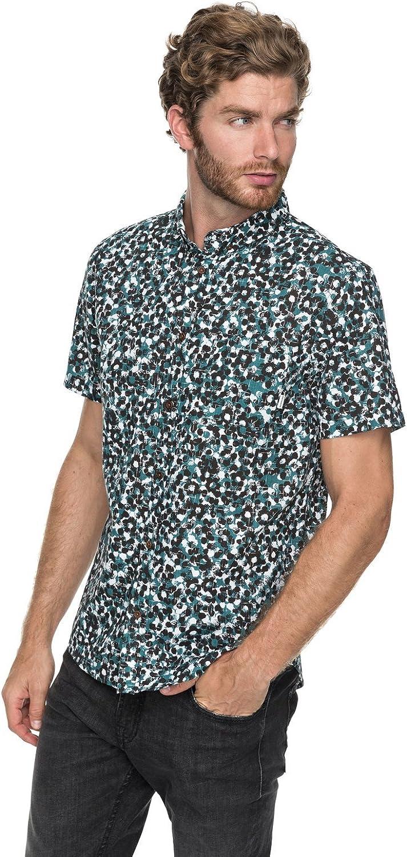 Quiksilver - Camisa de Manga Corta - Hombre - S - Verde: Amazon.es: Ropa y accesorios