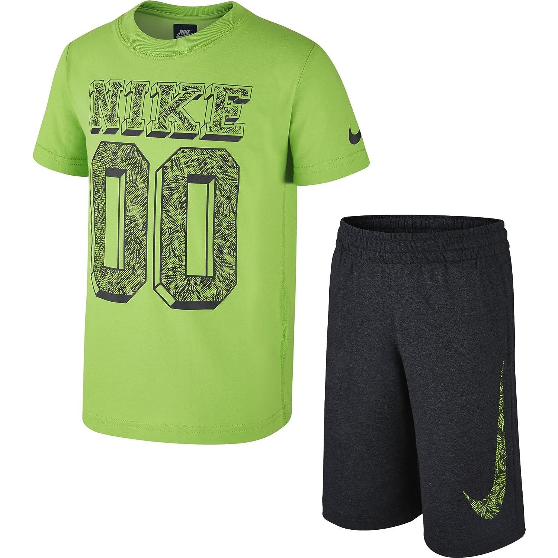 Nike SS Top Short GFX#1 LK-Tuta da Ragazzo Ss Top + Short Gfx #1 Lk