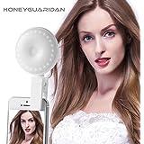 HoneyGuaridan Selfie Light, Luz de Selfie con Batería Recargable para iPhone, iPad, Samsung, Huawei y más dispositivos