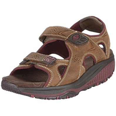 Skechers Women's Shape ups Roll Model Sandal Brown UK 6
