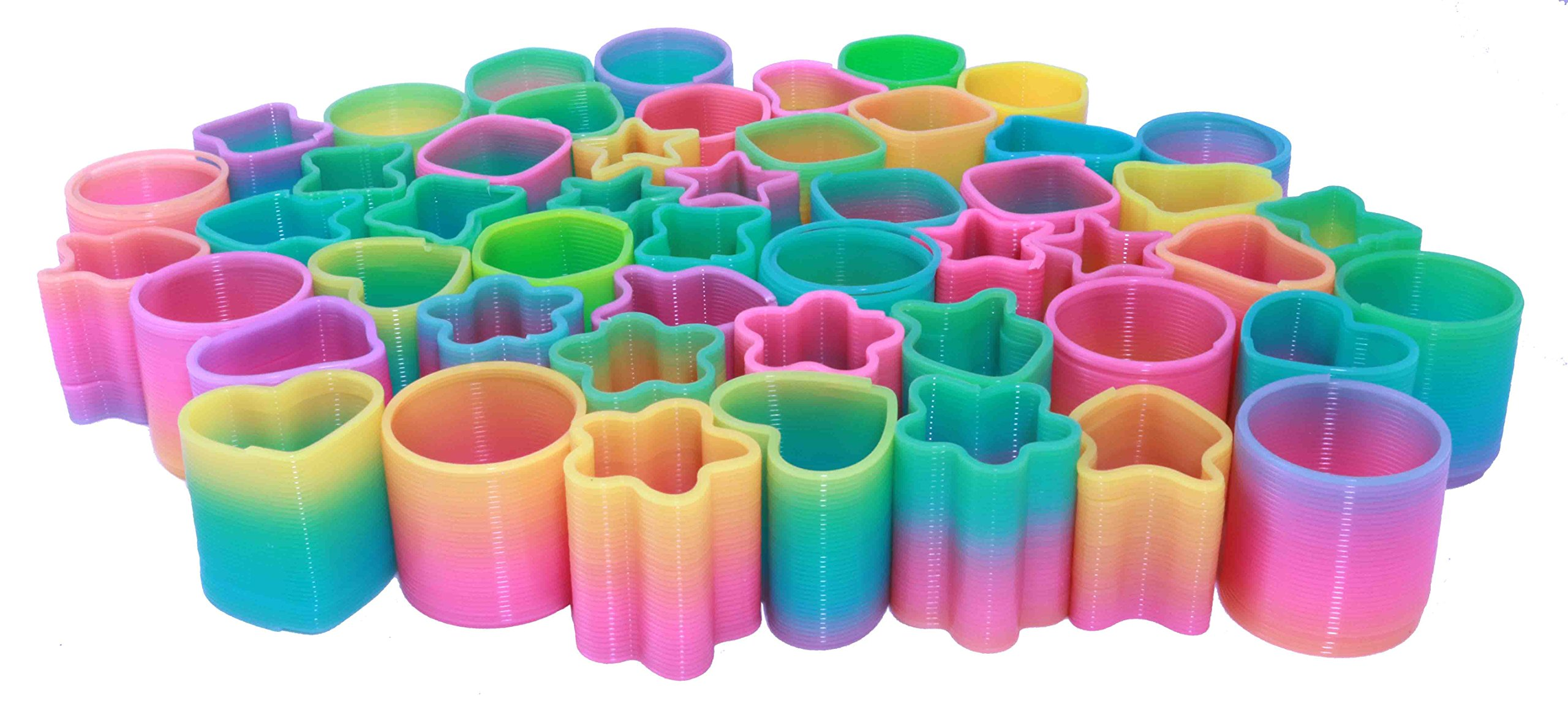 Mini Magic Spring Assortment - Bulk Pack Of 50 Rainbow Springs - Great Party Favor Spring Toy