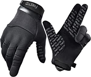 FREETOO Touch Screen Tactical Gloves Men Shooting Gloves Dexterous Wear-Resistant Military Gloves for Hunting Driving Airsoft