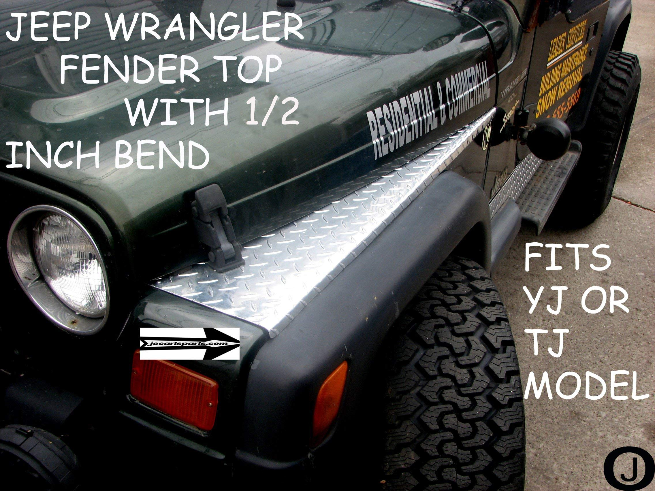 Fits With Jeeep Wrangler Tj Diamond Plate Full Top Fender Covers With Bend Buy Online In India At Desertcart In Productid 14750973