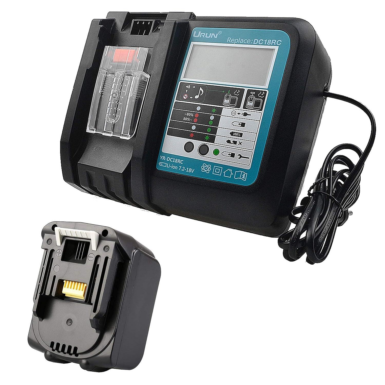 Batteria sostitutiva al litio BL1430 da 14,4 V 3,0 Ah per batteria Makita BL1420 BL1440 BL1450 per elettroutensili + Caricatore rapido Makita DC18RC 3A