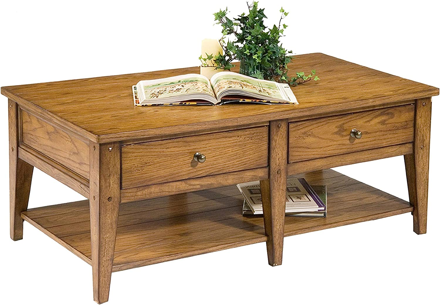"""Liberty Furniture Industries Lake House Cocktail Table, 48"""" x 27"""" x 19"""", Medium Brown"""