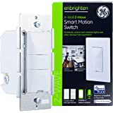 GE Enbrighten Z-Wave Plus Smart Motion Light Switch, Works with Alexa, Google Assistant, 3-Way Compatible, ZWave Hub Required, Repeater/Range Extender, White & Light Almond, 26931