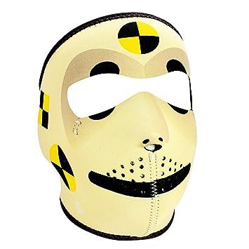 Amazoncom ZANheadgear Neoprene Face Mask Crash Test Dummy